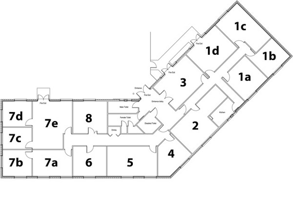 Plan of Asset House Rooms